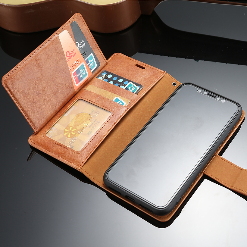 Luxury Vintage Leather Wallet Case For iPhone X 10 6 6s 7 8 Plus Card Book Flip Cover Magnetic Buckle For iPhone XS Max XR Case