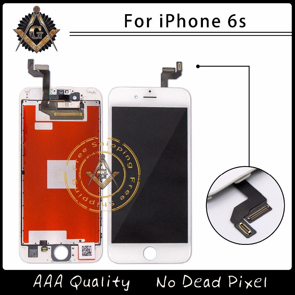 Prix pour 5 PCS/LOT Meilleure Qualité Grade AAA Pour iphone 6s LCD Affichage Digitizer Assemblée Pantalla Remplacement En Stock Expédition Libre de DHL