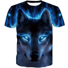2019 Newest Wolf 3D Print Animal Cool Funny T-Shirt Men Short Sleeve Summer Tops T Shirt Tshirt Male Fashion T-shirt 4XL