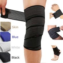 1 Pc Elastic Bandage Compression Knee Support Sports Strap Knee Protector Bands Ankle Leg Elbow Wrist Calf Brace Safety 40~180cm cheap Nylon JS-QC061-066 Adult 40cm 70cm 90cm 120cm 150cm 180cm high elastic fish ribbon+cotton blue black beige white Universal