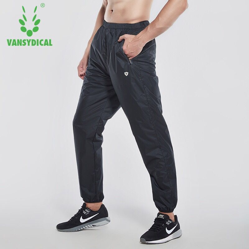 Vansydical Men Running Pants Sportswear Fitness Sports Gym Trousers Waterproof Bodybuilding Jogging Training Hot Sweat Pants donyummyjo luxury bathroom basin faucet brass golden polish swan shape single handle hot&cold water vanity sink mixer tap page 6