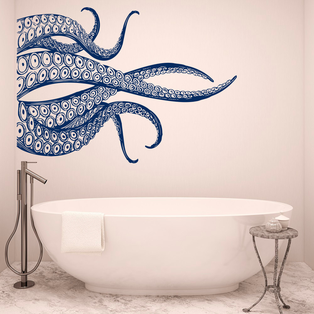 Big Octopus Tentacles Wall Decals Ocean Style Vinyl Wall