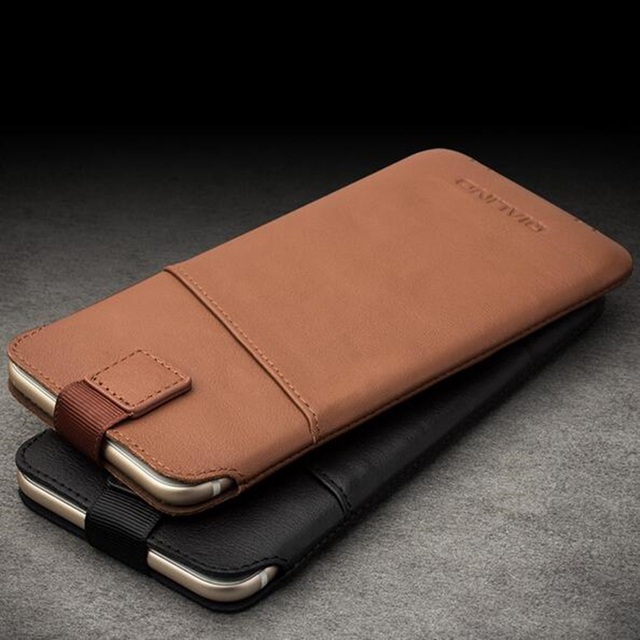 newest 63b6e a38d7 US $23.0 16% OFF|QIALINO Bag Pouch for iPhone 7 Fashion Pure Handmade Cover  for iPhone 7 plus Genuine Leather Card Slot Ultra Thin Pouch 4.7/5.5-in ...