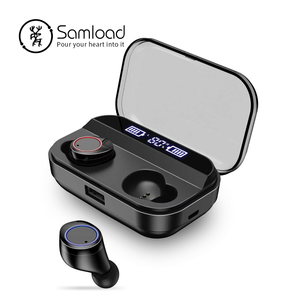 95f9305ea5a ... caja de carga para iPhone X. Cheap Samload Bluetooth 5,0 para  auriculares estéreo TWS inalámbrica auriculares estéreo de alta fidelidad