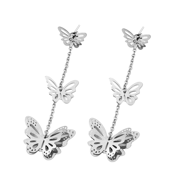 BR-9 New Fashion Designer Jewelry Colorful Rhinestone Imitation Pearl Butterfly Bow Earrings for Women pair of retro rhinestone faux pearl petal shape earrings for women