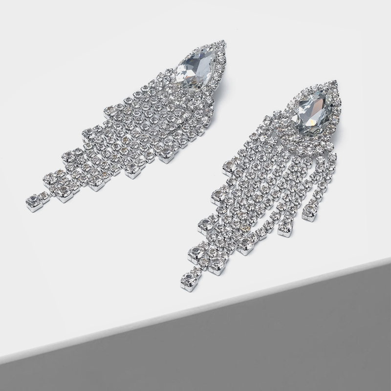 Tassel pendant fashion large ear clip
