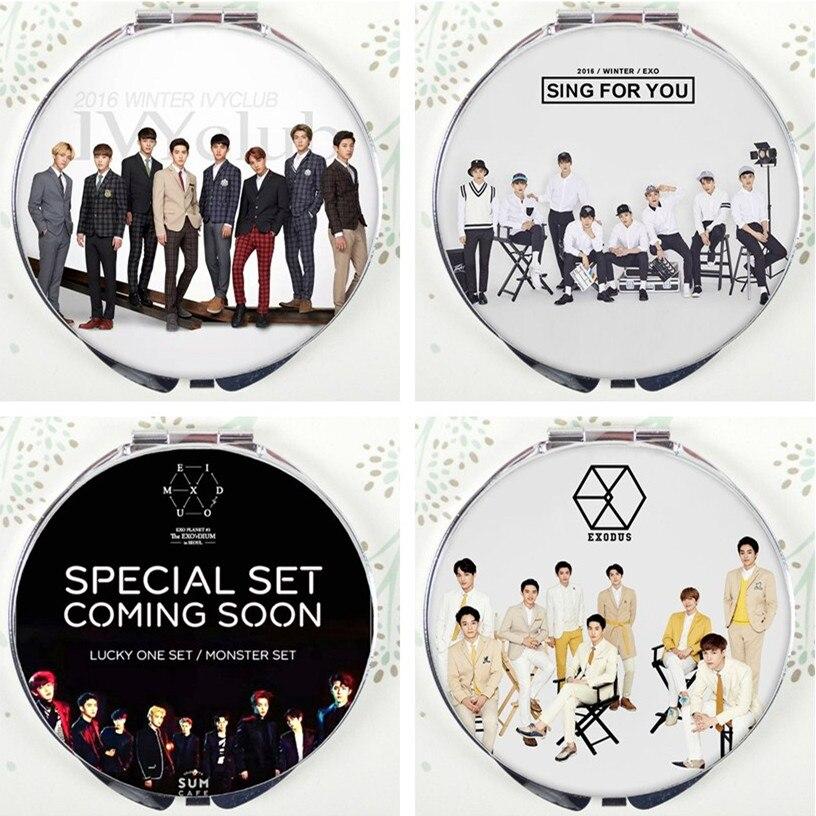 KPOP ulzzang экзо NX действовать альбом стиль Harajuku зеркало лежал SEHUN Чен CHANYEOL сделать Kai baekhyun сухо Xiumin K поп k-POP ближайшие через ...