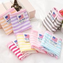 Hot Fashion Cotton panties women's Children's Girls Underwear Breathable Lingerie Striped Kids shorts priefs Comfort Multi-color