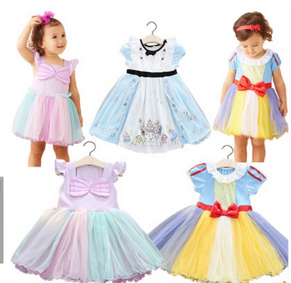 EMS DHL Free shipping 2017 New High-quality  Snow White Princess Dress Girls Dress Alice in Wonderland Halloween Costume dhl ems new smc vq2201 5ec a2