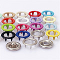 200 sets of environmentally friendly paint quality 9.5 mm hollow 20 color metal brass buckle buckle wholesale children's button