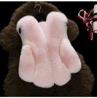 Baby Fur Vest New Girl Rabbit Fur Clothes Imitation Fox Fur Coat Kids Warm Vest Waistcoat