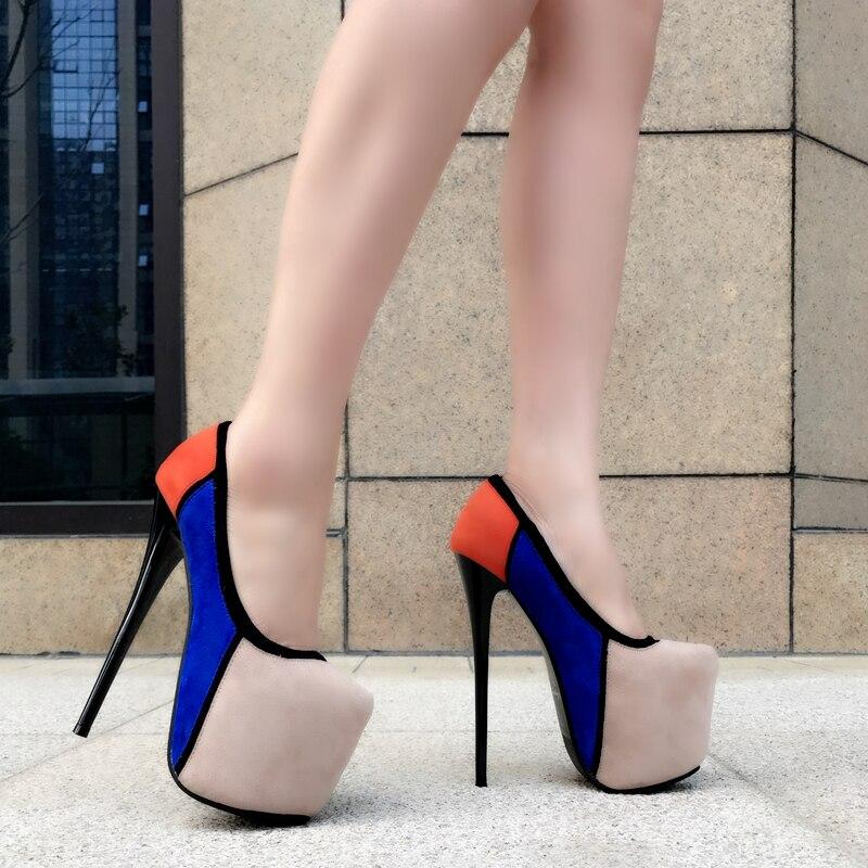 Suede 2018 apricot Talón 17 Cm Zapatos Nuevos Mujeres Alto Negro Ultra Las Costura Tacones Color Impermeable Stiletto De Plataforma Atractivas Solo xftppqRYw