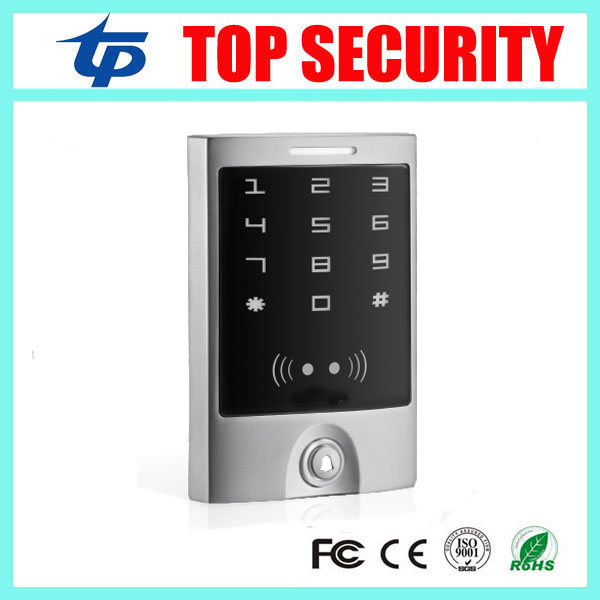 Touch keypad RFID card access control IP65 waterproof RFID card standalone access control system weigand26 card reader access low cost m07e access control kit without software waterproof card reader card access control device with magnetic lock