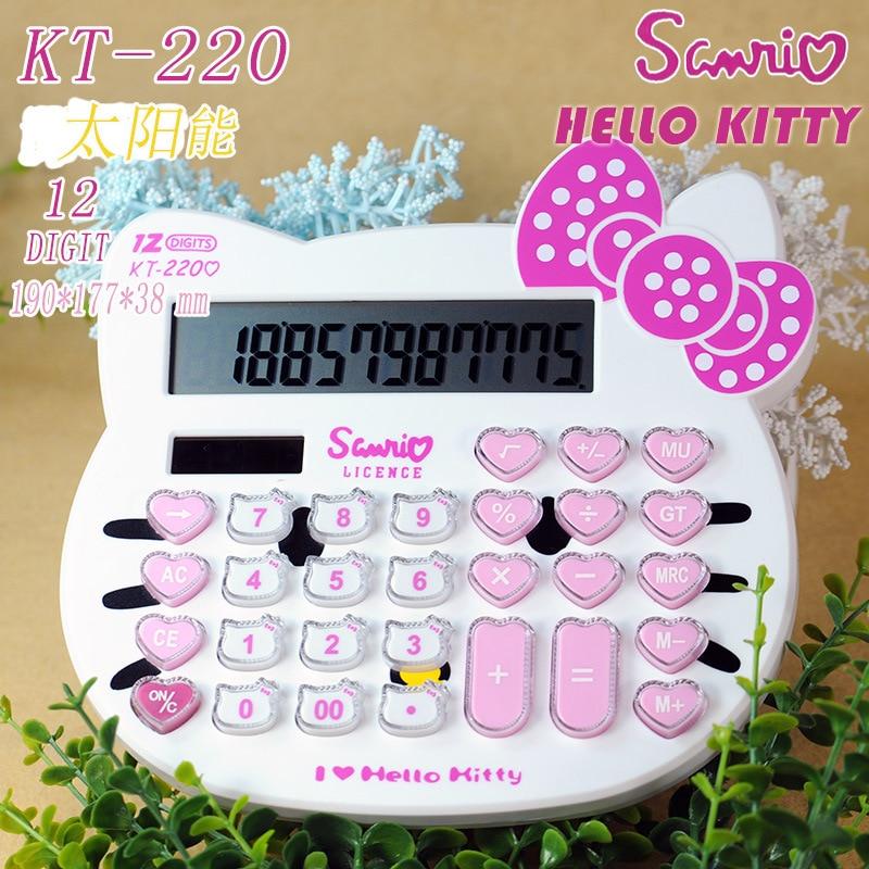 2016 cute Hello Kitty solar calculator KT 220