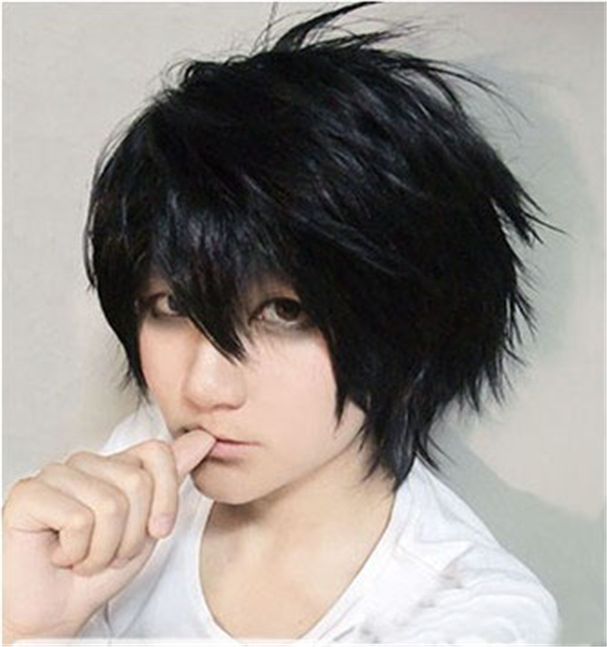 New Arrival Death Note L Lawliet Stylish Shaggy Layered Anime Wig