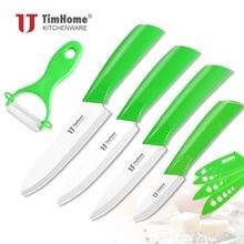 """5 peças conjunto de faca cerâmica cozinha 3 """"4"""" 5 """"6"""" facas chef + descascador de cerâmica 4 pçs faca bainha/capa timhome faca cerâmica"""