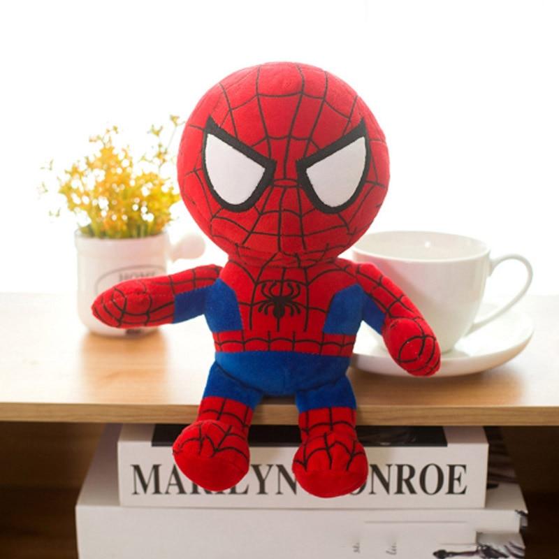 Marvel Мстители 4 плюшевые игрушки супергерой плюшевые куклы Капитан Америка, Железный человек Человек-паук Тор плюшевые мягкие игрушки Человек-паук - Цвет: Белый