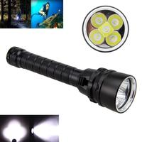 Powerful super bright 5 LED T6 LED Scuba Diving Flashlight Waterproof Torch Lamp underwater lighting