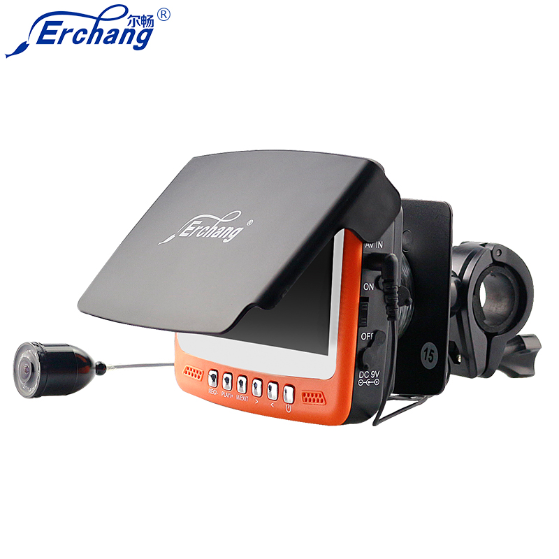 Erchang 1000TVL水中釣りカメラ魚群探知機カメラ4.3液晶モニター赤外線魚群探知機サンバイザー送料無料EYOYO