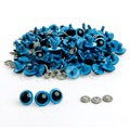 Wholeslae 100Pcs 20mm Color Plastic Safety Eyes For Teddy Bear Doll Animal Puppet Crafts