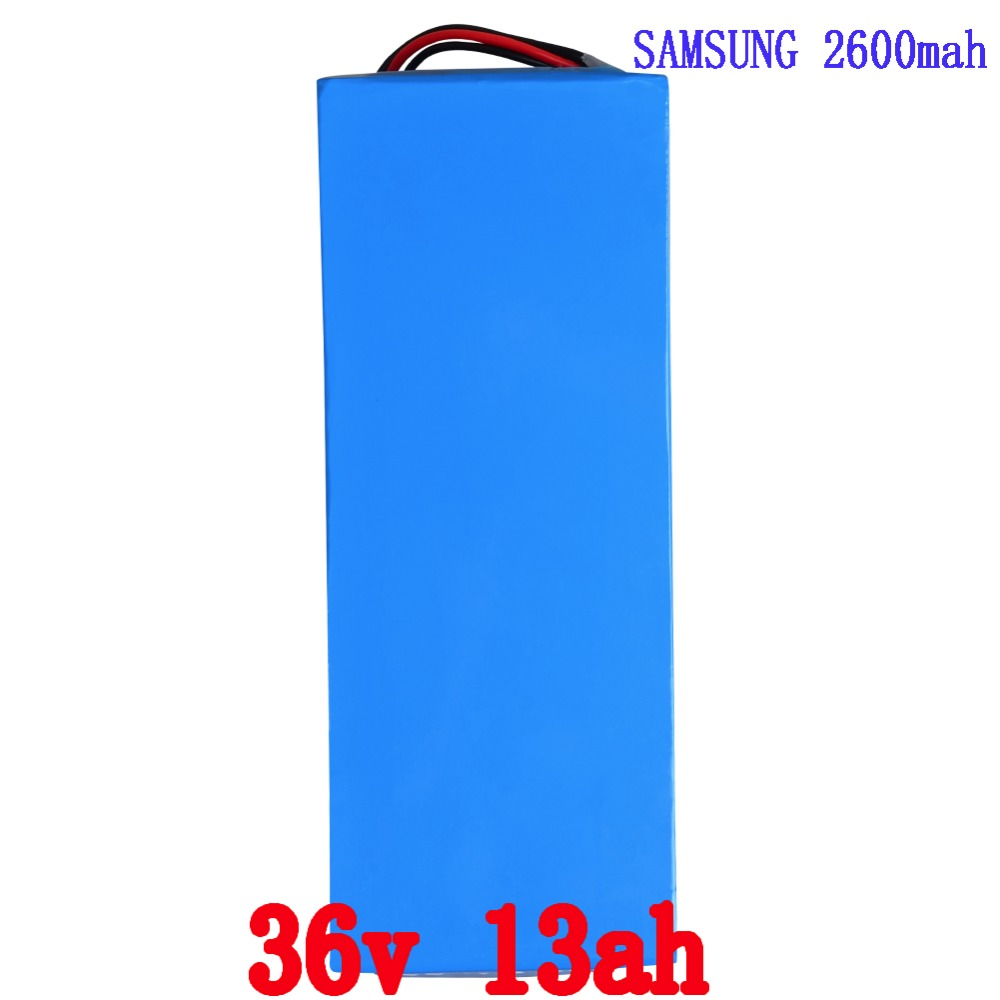 Lithium Battery 36V 13AH 500W (samsung 2600) Electric Bicycle Battery 36v with 42V Charger,BMS ebike Battery Free Shipping