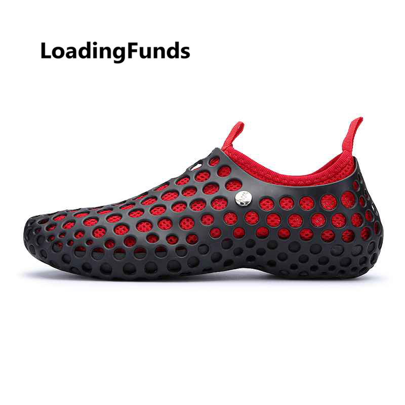 Us 18 15 45 Off Loadingfunds Men S Women S Aqua Shoes Breathable Vents Detachable Women Sneaker Beach Fishing Water Holes Outdoor Summer Sandals In