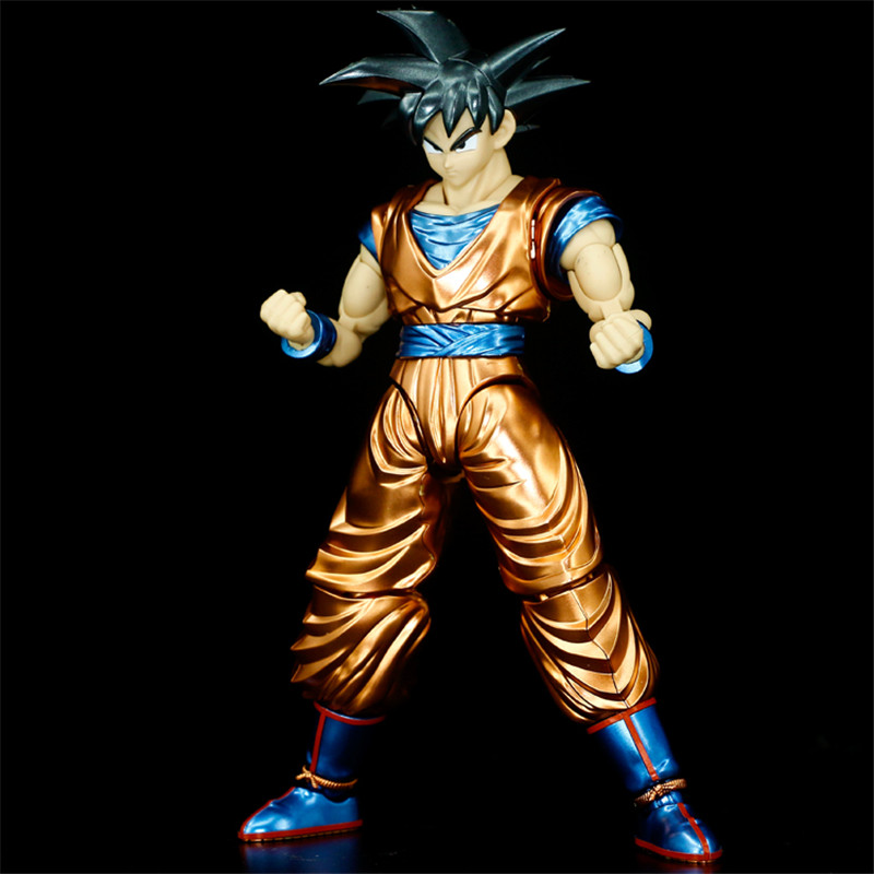 Hot sale Original Dragon Ball Super Saiyan jin Son Goku Migatte Metal Coloring Figure Model Collection Gift Toys все цены