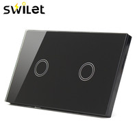 SWILET 120 Type Two Way Sensor Touch Switch 110V 240V Crystal Glass Panel Touch Switch Remote