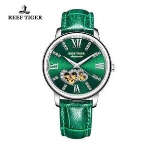 Image 5 - Reef Montre en cuir pour femmes, nouveau Design, cadran mécanique or Rose, vert, bracelet RGA1580, 2020