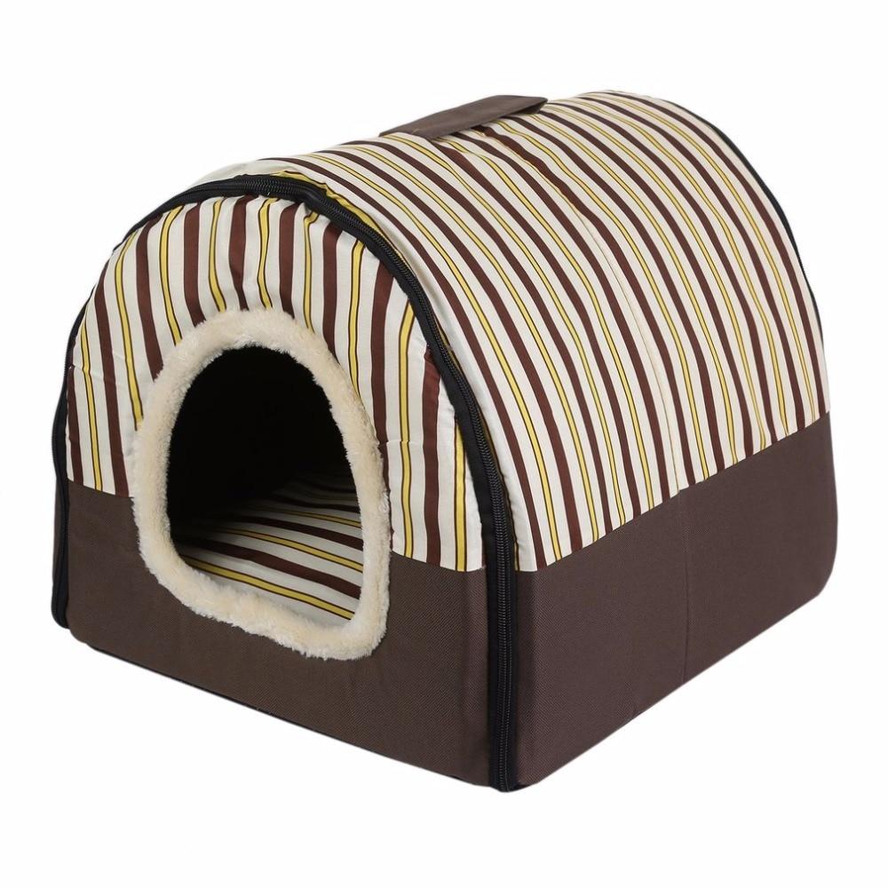 Складной щенок Кошкин дом с Коврики Питомник Гнездо мягкая кровать сумка для маленький средний домашних Товары для собак комфортного путеш...