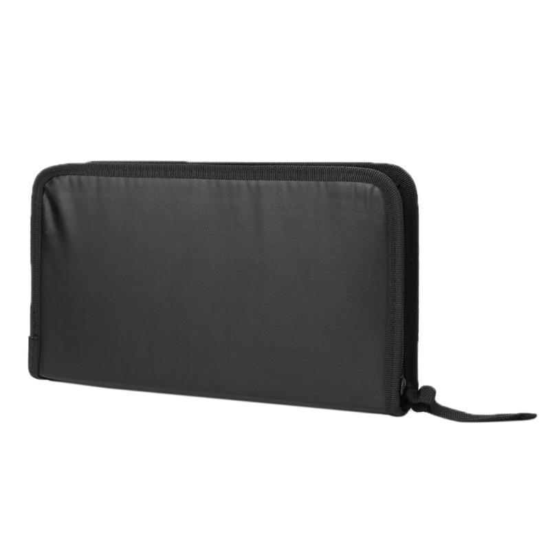 THINKTHENDO 80 Disc CD DVD Holder Bag Case New Zip Organizer Wallet Media Storage Brand new Portable Handbag Black