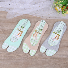 1pair sport yoga socks cotton boat socks clip toe sock Fish mouth contact(China)