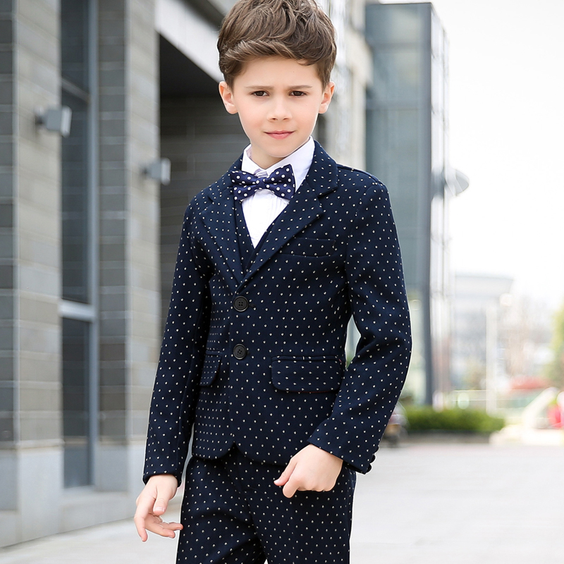 2018 new fashion baby boy suit suit boy suit wedding formal spring fall dots dress wedding boy suit new fashion boy