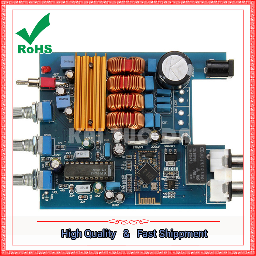 2x50 w TPA3116 Bluetooth 4.0 Récepteur Audio HiFi Stéréo Amplificateur De Puissance 2*50 w module 0.18 kg