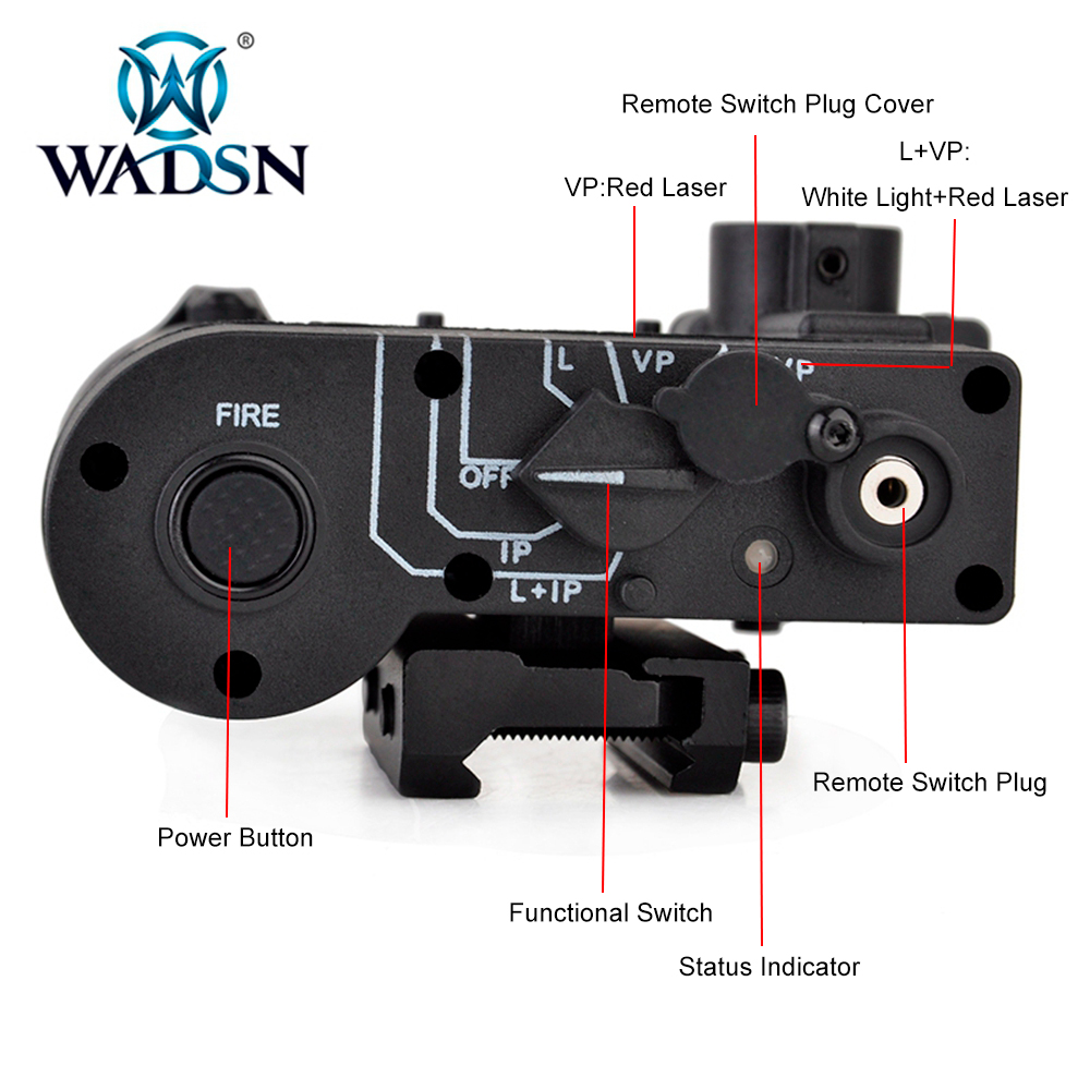 Image 3 - WADSN Tactical LED Flashlight Airsoft IR And Red Laser DBAL MKII Multifunction DBAL D2 Battery Case WEX328 Softair Weapon Lights-in Weapon Lights from Sports & Entertainment
