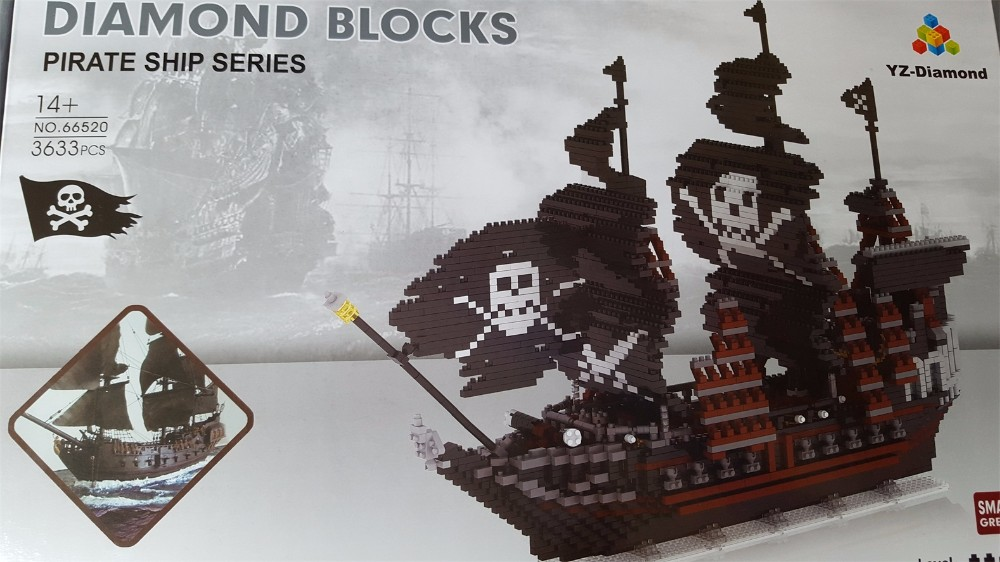 YZ Diamond blocks pirate series 66520