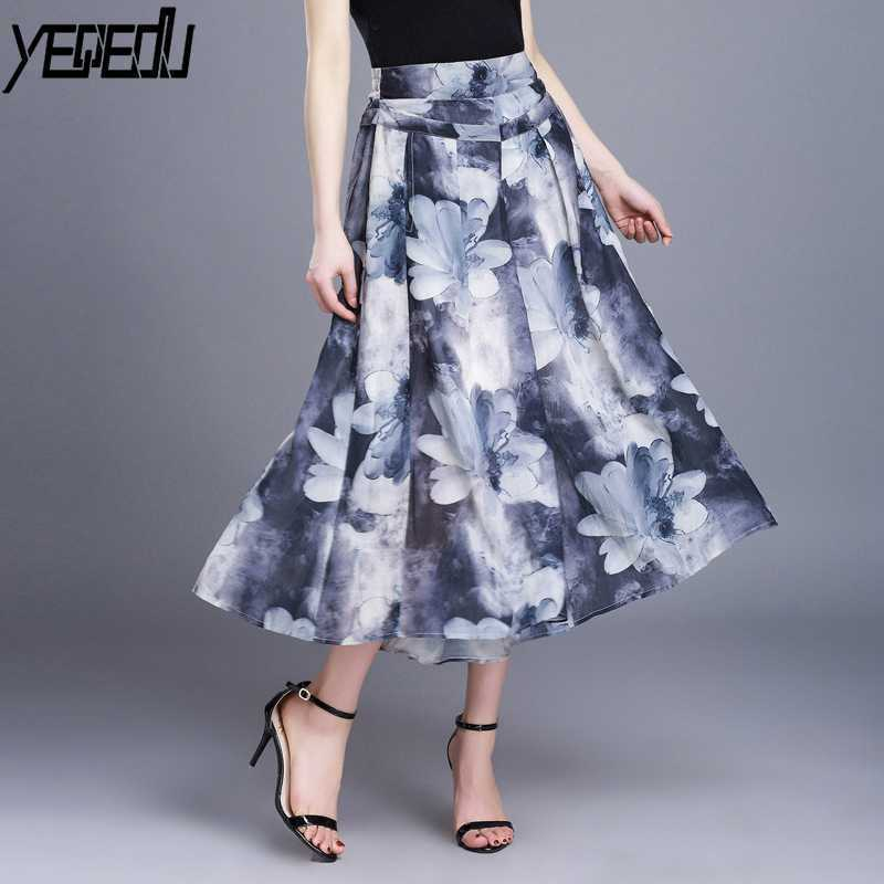 #0405 Pantalon Femme Calf-length   Pants   3d printed Chiffon Fashion   Wide     Leg     pants   High Waist Loose Elegant Summer trousers 2018