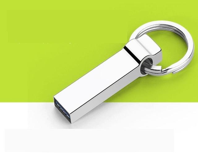 Ultra Big Capacity High Speed Business Memory Pendrive 512GB 256GB 128GB 64GB Key Ring Metal Waterproof Dual USB Stick