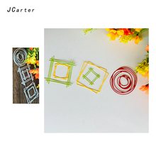 JCarter Circle Square Frame Cutting Dies for Scrapbooking DIY Album Embossing Folder Cards Paper Template Background Stencil
