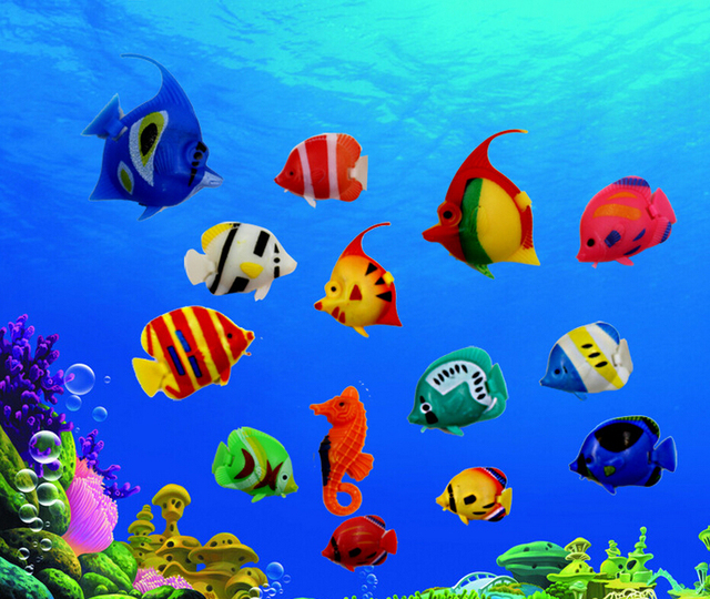 Lifelike Plastic Artificial Moving Floating Fishes