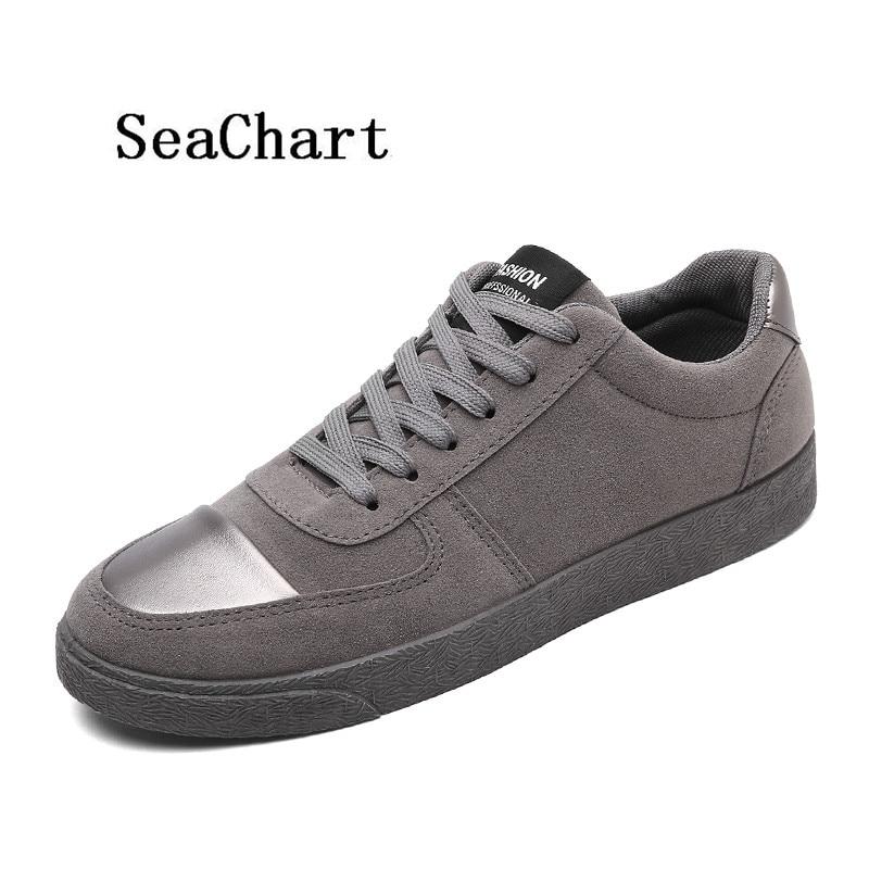 Prix pour SeaChart Nouvelle Arrivée de 2017 Hommes PU Planche À Roulettes En Cuir Chaussures Respirant En Plein Air de Streety Toutes Les Sélections hommes Sneakers Livraison Gratuite