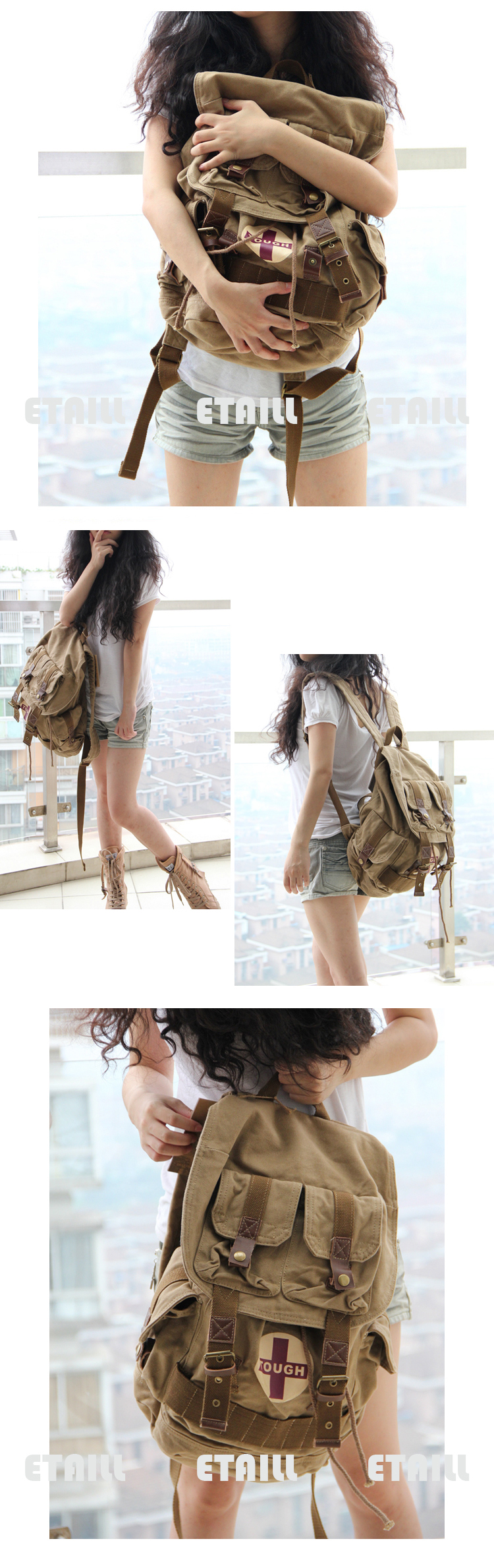 preppy style school bags
