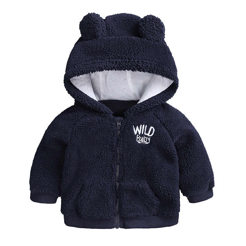 e1d492af57eb ... Cute Baby Clothes Girl Jacket Coat Autumn Winter Flannel Warm Boys  Outerwear Children Newborn Hooded Baby