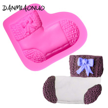 Lovely Sock Cake Silicone Mold Chocolate Baking Tools For Cakes Decorations Muffin Soap Cutter