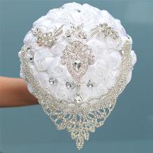 16 стилей новые белые свадебные цветы для невесты искусственный