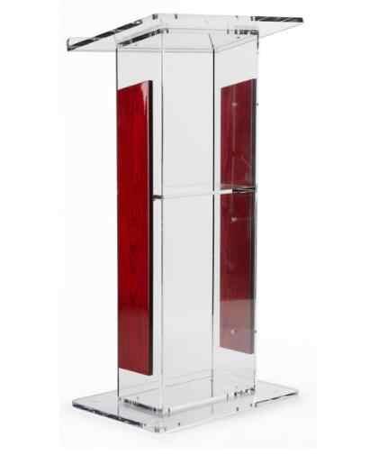 Großhandel Acryl Rednerpult mit Panels, Umfasst Abnehmbare Regal, Auf Podium Oberfläche Einfach Zu Montieren Hardware