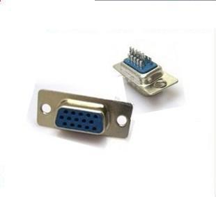 50pcs/lot  The New 15-hole VGA Welding Head Welding Head VGA 15-pin Female Connector Assembly Head DB15 Hole