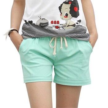 c435249e81a DANJEANER 2018 Летние Стильные шорты женские эластичные шорты ярких цветов  с поясом Короткие женские домашние хлопковые шорты в стиле кэжуал