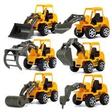 6 стилей мини литые под давлением пластиковые строительные машины инженерные автомобили экскаватор модель игрушки для детей подарок для мальчиков