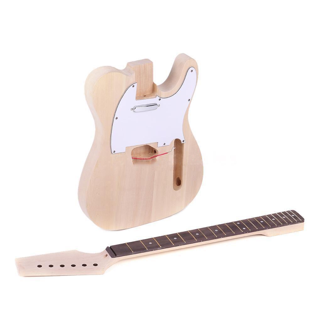 Fste-haute qualité TL Style inachevé bricolage électrique guitare Kit érable cou